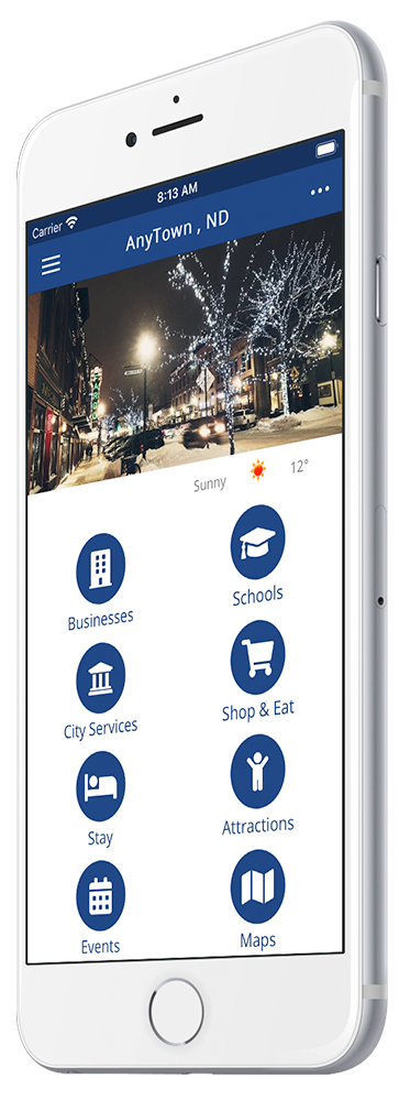 rTown Community Mobile App Home