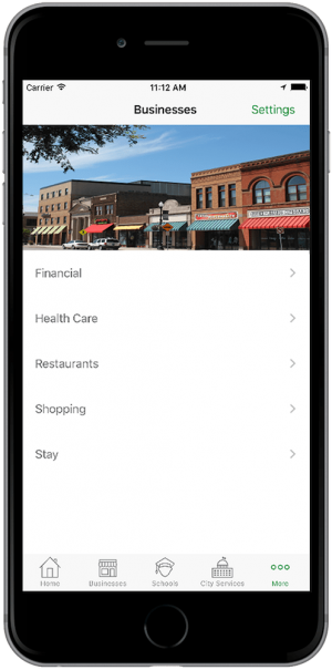 rTown Mobile App - Businesses