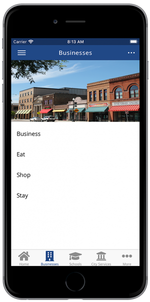 rTown Businesses Screenshot